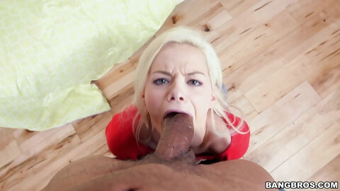 Beautiful blonde girl Jessie Young gets her pussy banged well